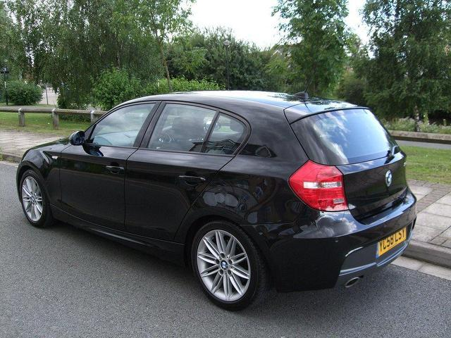 used bmw 1 series 2008 diesel 118d m sport hatchback black. Black Bedroom Furniture Sets. Home Design Ideas