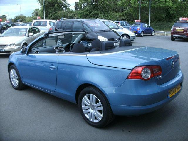 used volkswagen eos 2007 20 tdi 2dr blue for sale in