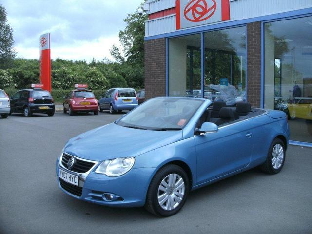Used Volkswagen Eos 2.0 Tdi 2 Door  Blue 2007 for Sale in UK