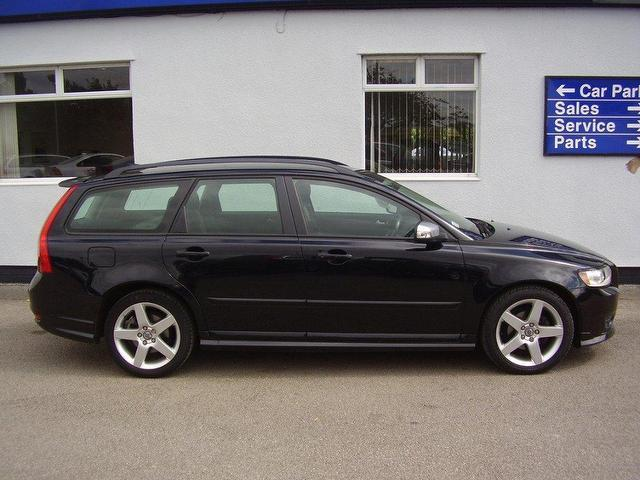 Used Volvo V50 2009 Petrol 1.8 R Design Sport Estate Black ...