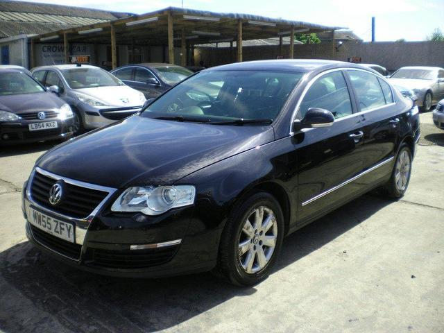used volkswagen passat 2005 diesel 1 9 se tdi 4dr saloon black manual for sale in wembley uk. Black Bedroom Furniture Sets. Home Design Ideas