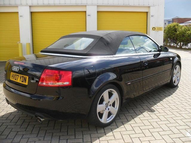 Used audi a4 2007 petrol s line 2dr convertible black for For sale on line