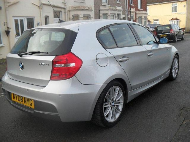 used bmw 1 series 2008 diesel 118d m sport hatchback silver manual for sale in portsmouth uk. Black Bedroom Furniture Sets. Home Design Ideas