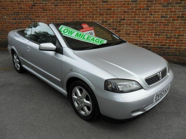 Used Cars For Sale Under 3000 >> Used Vauxhall Astra 2003 Petrol 1.8 16v 2dr Convertible Silver Manual For Sale In Southampton Uk ...