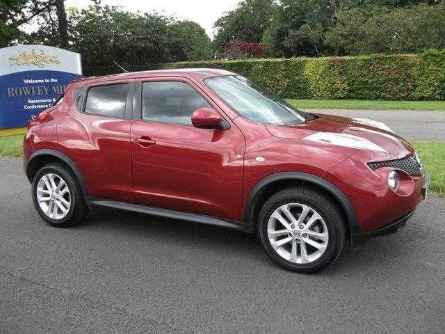 used nissan juke 2010 petrol 1 6 acenta 5dr sport hatchback red manual for sale in newmarket uk. Black Bedroom Furniture Sets. Home Design Ideas