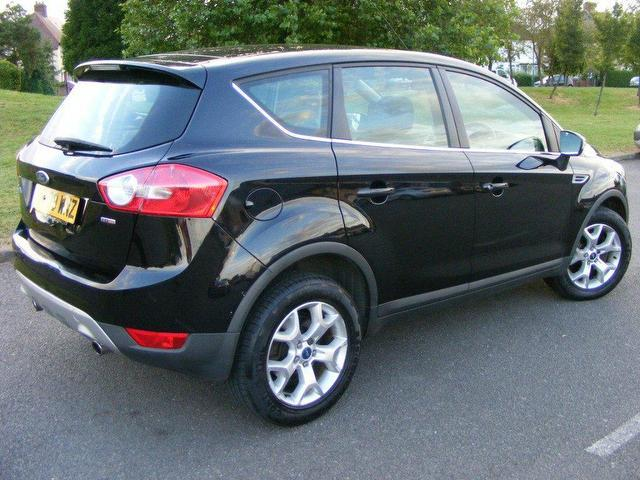 used ford kuga 2009 diesel 2 0 tdci zetec 5dr estate black. Black Bedroom Furniture Sets. Home Design Ideas