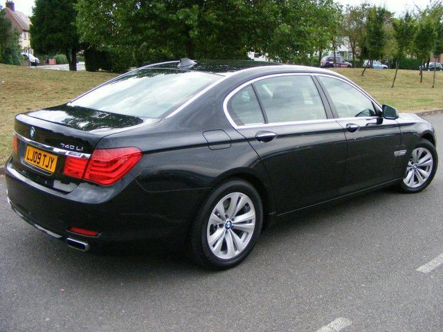 used bmw 7 series 2009 petrol 740li 4dr auto saloon black automatic for sale in wembley uk. Black Bedroom Furniture Sets. Home Design Ideas