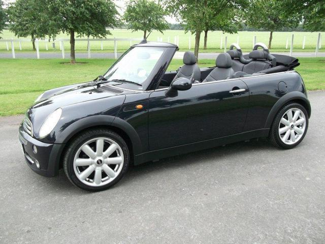 used mini 1 6 2008 petrol cooper 2dr auto convertible black edition for sale in newmarket uk. Black Bedroom Furniture Sets. Home Design Ideas