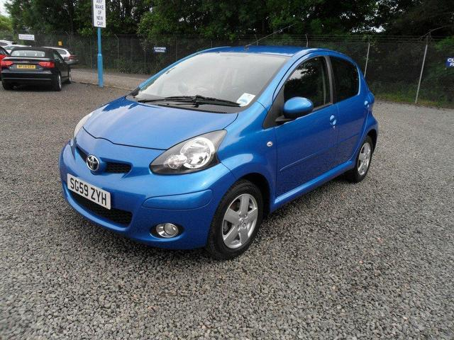 used toyota aygo 2009 petrol 1 0 vvt i blue 5dr hatchback with for sale autopazar. Black Bedroom Furniture Sets. Home Design Ideas