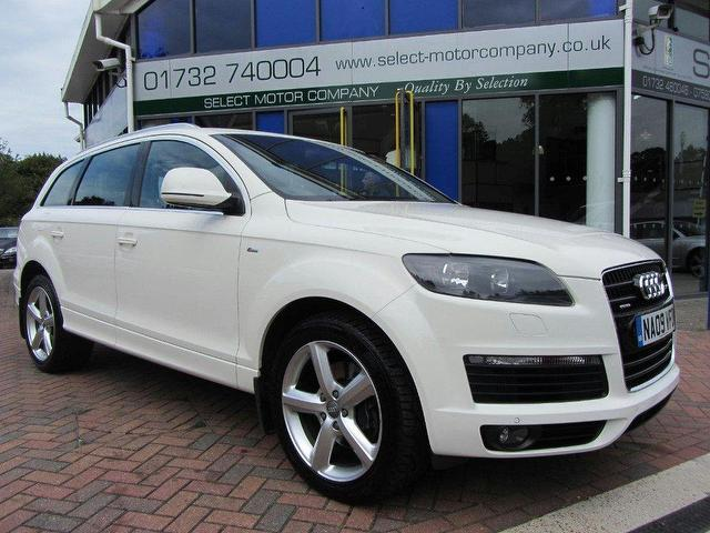 used audi q7 2009 diesel 4 2 tdi quattro s 4x4 white edition for sale in sevenoaks uk autopazar. Black Bedroom Furniture Sets. Home Design Ideas