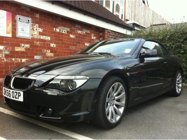 used bmw 6 series 2006 petrol 630i sport 2dr convertible black automatic for sale in stoke on. Black Bedroom Furniture Sets. Home Design Ideas