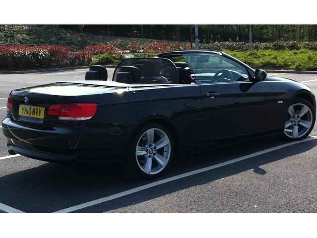 used bmw 3 series 2010 diesel 320d se highline convertible black manual for sale in stoke on. Black Bedroom Furniture Sets. Home Design Ideas