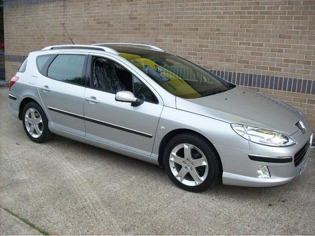 used peugeot 407 2007 diesel 2 0 hdi 136 se estate silver. Black Bedroom Furniture Sets. Home Design Ideas