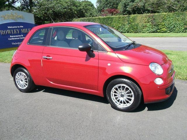used fiat 500 2010 red hatchback petrol manual for sale