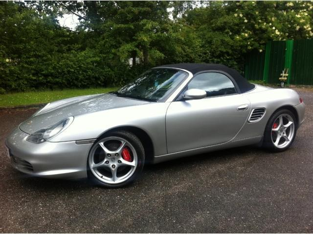 used porsche boxster 3 2 s 2 door convertible silver petrol for sale