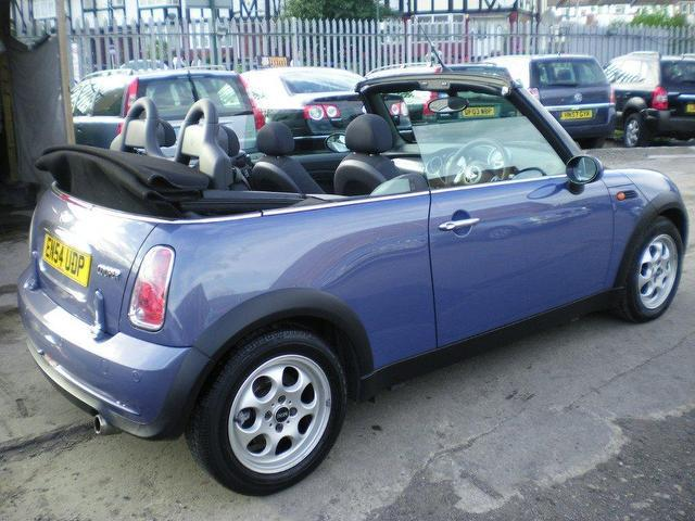 used mini 1 6 2005 petrol cooper 2dr convertible blue manual for sale in wembley uk autopazar. Black Bedroom Furniture Sets. Home Design Ideas
