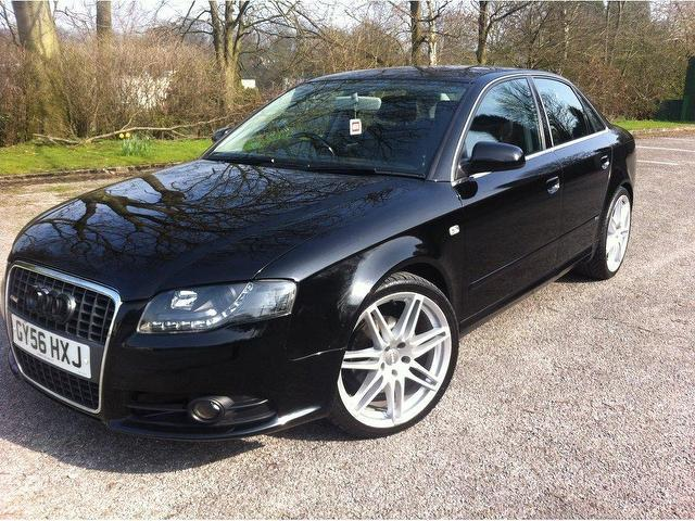 used audi a4 2006 diesel 2 0 tdi tdv s saloon black automatic for sale in stoke on trent uk. Black Bedroom Furniture Sets. Home Design Ideas