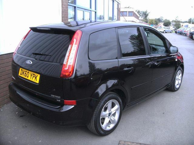 used ford c max 2010 petrol 1 6 zetec 5dr estate black. Black Bedroom Furniture Sets. Home Design Ideas