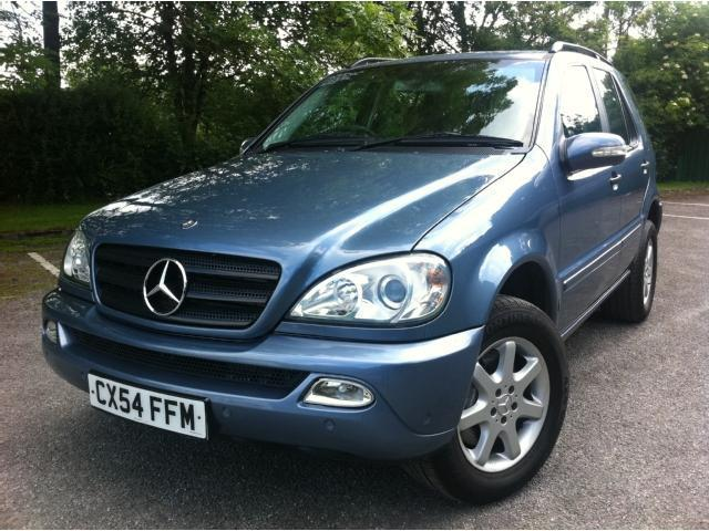 used mercedes benz 2004 blue paint diesel class ml270 cdi