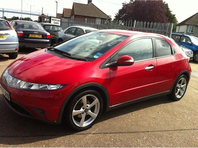 Used Red Honda Civic 2007 Petrol 1 8 I Vtec Es 5dr