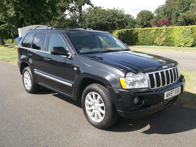 used jeep grand 2007 model cherokee 3 0 crd overland diesel 4x4 black for sale in newmarket uk