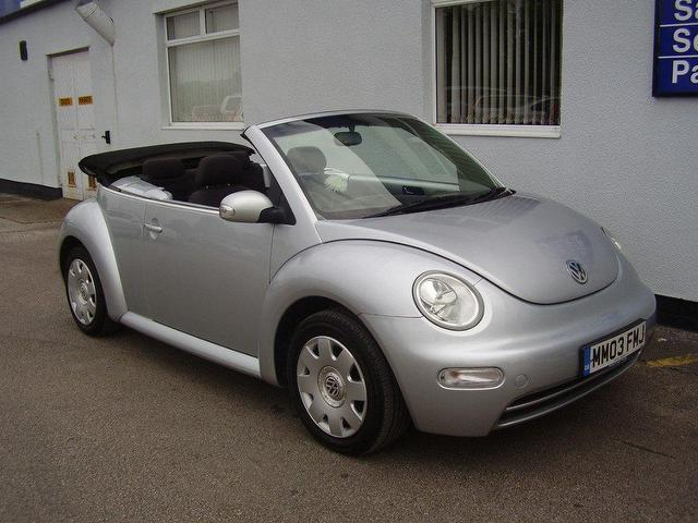 used volkswagen beetle 2003 model 1 6 2dr petrol convertible silver for sale in wirral uk. Black Bedroom Furniture Sets. Home Design Ideas