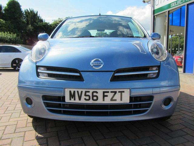 used nissan micra 2006 petrol 1 2 spirita 5dr auto hatchback blue with air conditioning for sale. Black Bedroom Furniture Sets. Home Design Ideas