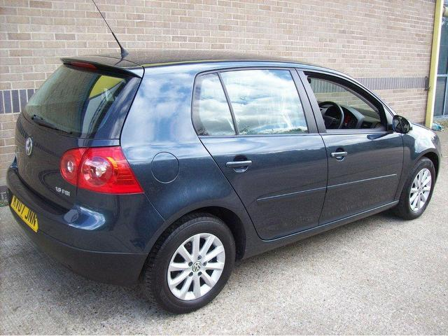 used volkswagen golf 2007 petrol 1 6 match fsi 5dr hatchback blue edition for sale in norwich uk. Black Bedroom Furniture Sets. Home Design Ideas