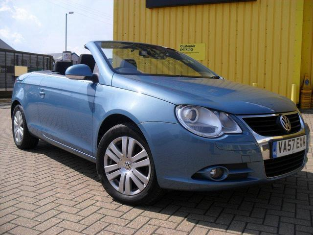 used 2007 volkswagen eos convertible blue edition 2 0 tdi 2dr diesel for sale in portsmouth uk. Black Bedroom Furniture Sets. Home Design Ideas