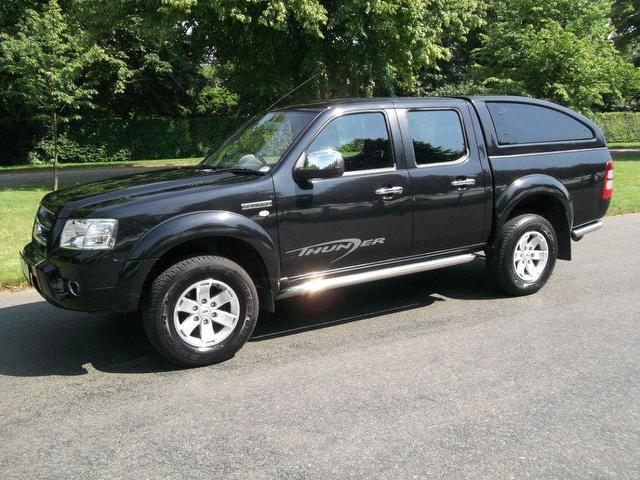 used ford ranger pick up thunder double 4x4 black 2009 diesel for sale. Cars Review. Best American Auto & Cars Review
