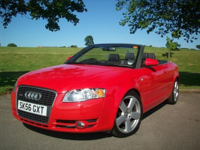 used audi a4 2006 diesel 2 0 tdi s line convertible red with for sale autopazar. Black Bedroom Furniture Sets. Home Design Ideas