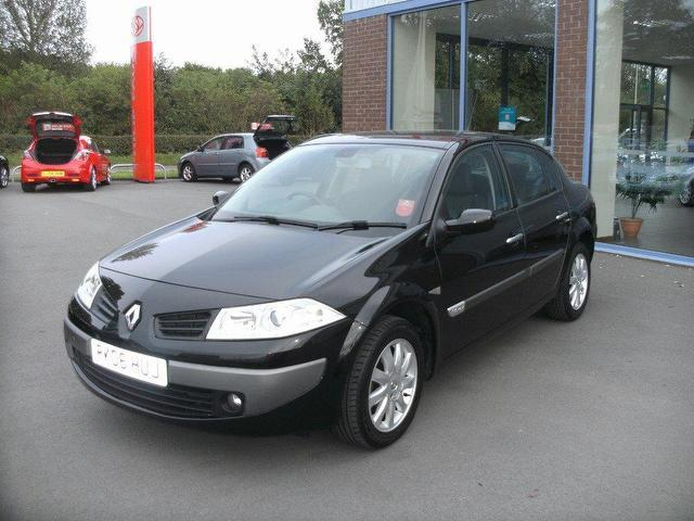 Used Renault Megane 2006 Black Saloon Petrol Manual for Sale