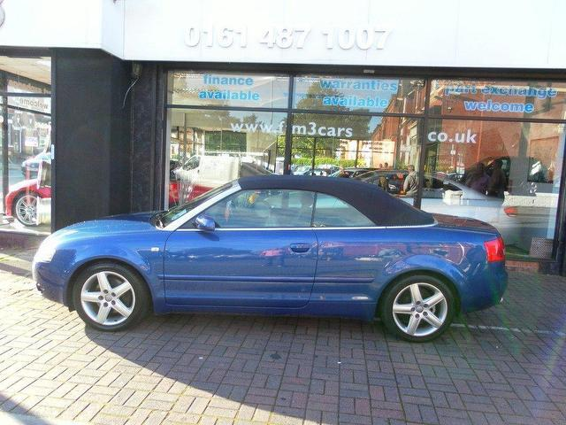 Used Audi A4 2003 Blue Convertible Petrol Automatic for Sale