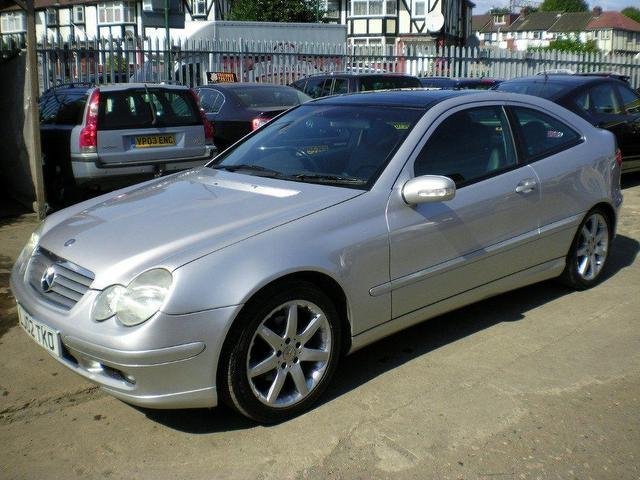 Used mercedes benz 2002 petrol class c230k 3dr auto coupe for Used mercedes benz a class for sale