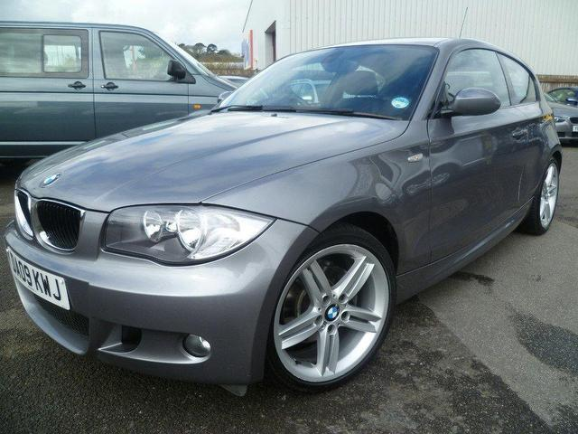 used grey bmw 1 series 2009 diesel 118d m sport hatchback. Black Bedroom Furniture Sets. Home Design Ideas
