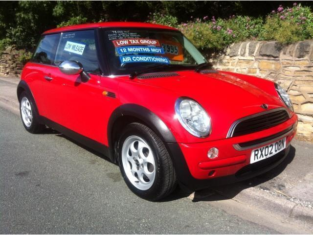 used mini one 2002 red hatchback petrol manual for sale in stafford uk
