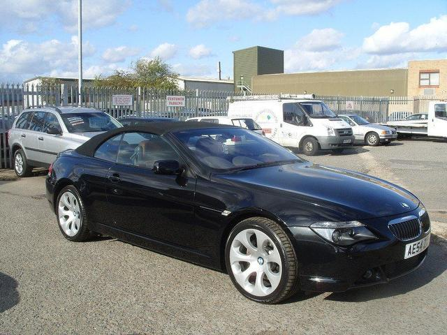 used bmw 6 series 2004 petrol 645ci 2dr auto convertible black with for sale autopazar. Black Bedroom Furniture Sets. Home Design Ideas