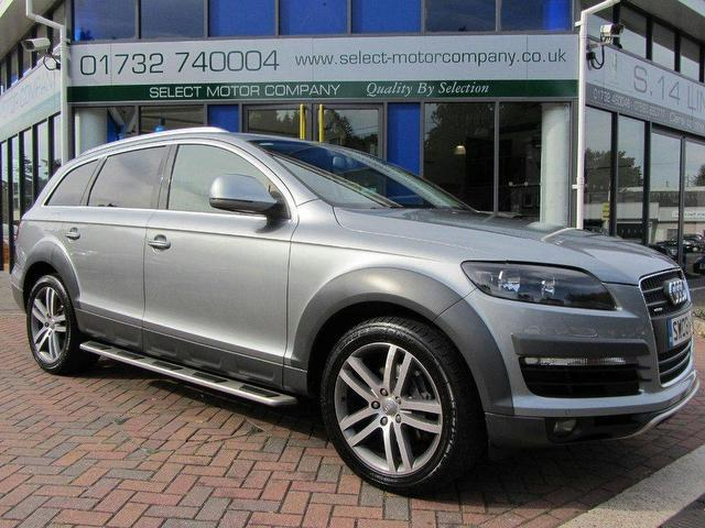 used audi q7 car 2008 grey diesel 3 0 tdi quattro 240 4x4 for sale in sevenoaks uk autopazar. Black Bedroom Furniture Sets. Home Design Ideas