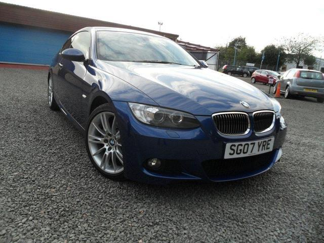used bmw 3 series 2007 petrol 325i m sport coupe blue with. Black Bedroom Furniture Sets. Home Design Ideas
