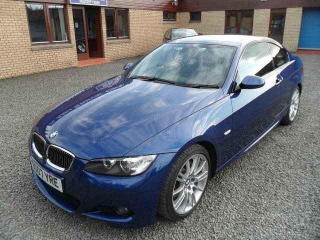 used bmw 3 series 2007 petrol 325i m sport coupe blue with for sale autopazar. Black Bedroom Furniture Sets. Home Design Ideas