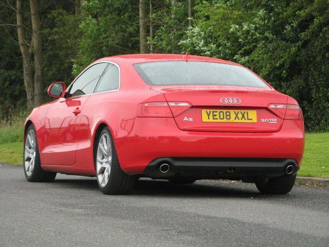 used red audi a5 2008 diesel 3 0 tdi quattro sport coupe. Black Bedroom Furniture Sets. Home Design Ideas