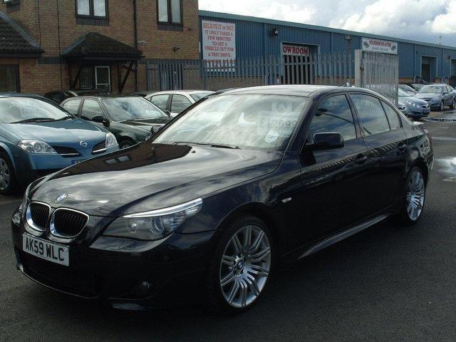 used bmw 5 series 2009 diesel 520d m sport saloon black. Black Bedroom Furniture Sets. Home Design Ideas