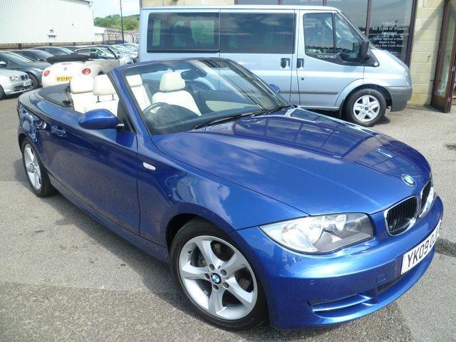 used bmw 1 series 2009 blue colour diesel 120d se 2 door convertible for sale in penzance uk. Black Bedroom Furniture Sets. Home Design Ideas