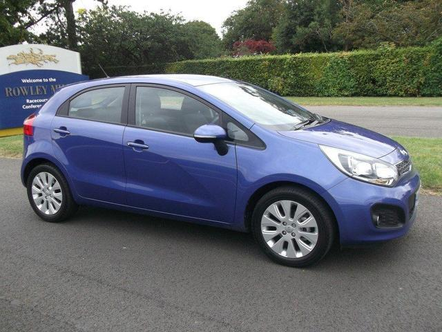 used kia rio 2012 diesel 1 1 crdi 2 ecodynamics hatchback blue with air conditioning for sale. Black Bedroom Furniture Sets. Home Design Ideas