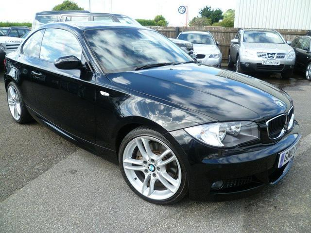 Used bmw 1 series car 2008 black diesel 123d m sport coupe for sale in penzance uk autopazar - Black bmw 1 series coupe ...
