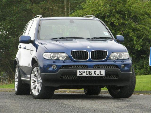 used bmw x5 2006 blue colour diesel sport exclusive. Black Bedroom Furniture Sets. Home Design Ideas