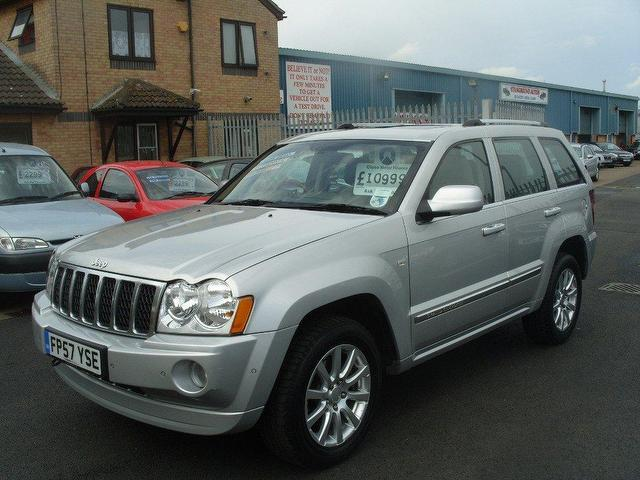 used jeep grand 2007 diesel cherokee 3 0 crd overland 4x4 silver edition for sale in fengate uk. Black Bedroom Furniture Sets. Home Design Ideas