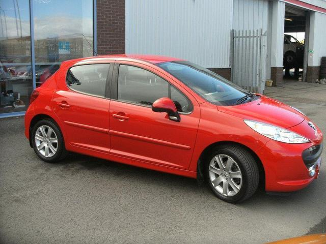 used peugeot 207 2008 red paint diesel 1 6 hdi 90 sport. Black Bedroom Furniture Sets. Home Design Ideas