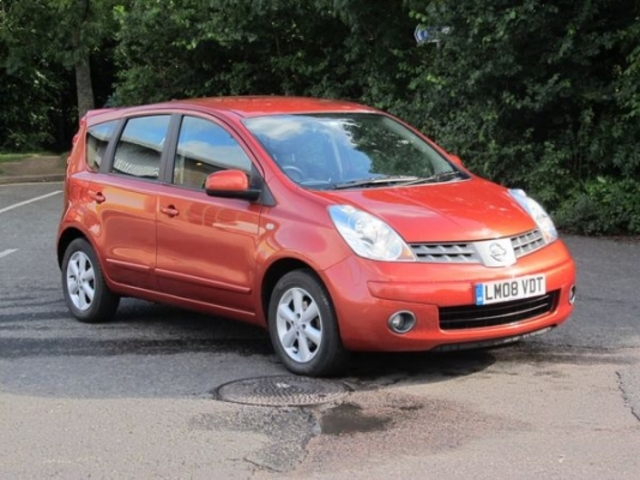 used nissan note 2008 orange paint petrol for sale in epsom uk autopazar. Black Bedroom Furniture Sets. Home Design Ideas