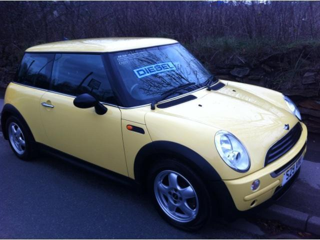 used mini one 2005 yellow hatchback diesel manual for sale in stafford